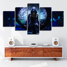 Artwork Canvas Painting HD Prints Home Decoration 5 Pieces Mass effect Wall Art Modular Game Figure Picture Living Room Posters