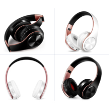 New arrival !! Shinning Gold colors Bluetooth Headphones Wireless Stereo Headsets earbuds with Mic /TF Card