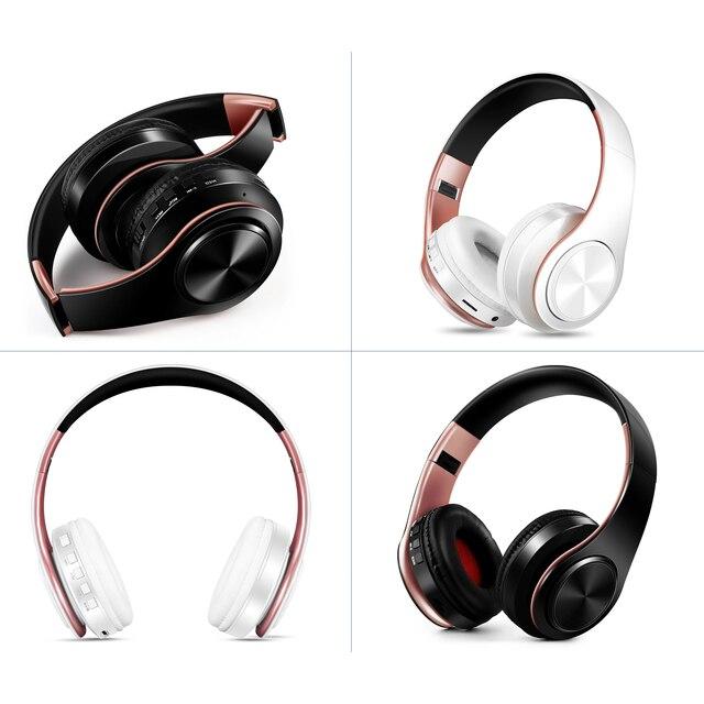 Nowy przyjazd!! W kolorze błyszczącego złota kolory słuchawki Bluetooth bezprzewodowe słuchawki stereo słuchawki douszne z mikrofonem/kartą TF