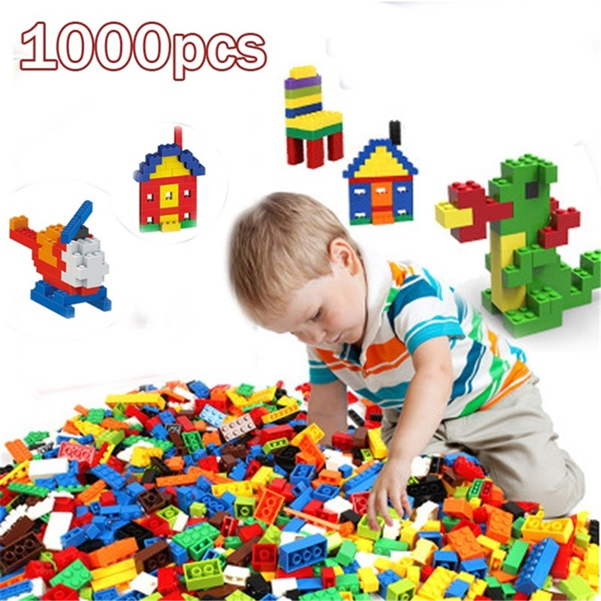 <font><b>1000Pcs</b></font> Creative Colorful Building Blocks Bricks Kids Block Toys Figures for Children Boy Girls Birthday Christmas Gift image