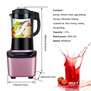 Multifunctional Blender Household Blender with Heating Element Full-Automatic Soybean Milk Machine Food Processor 398H 6