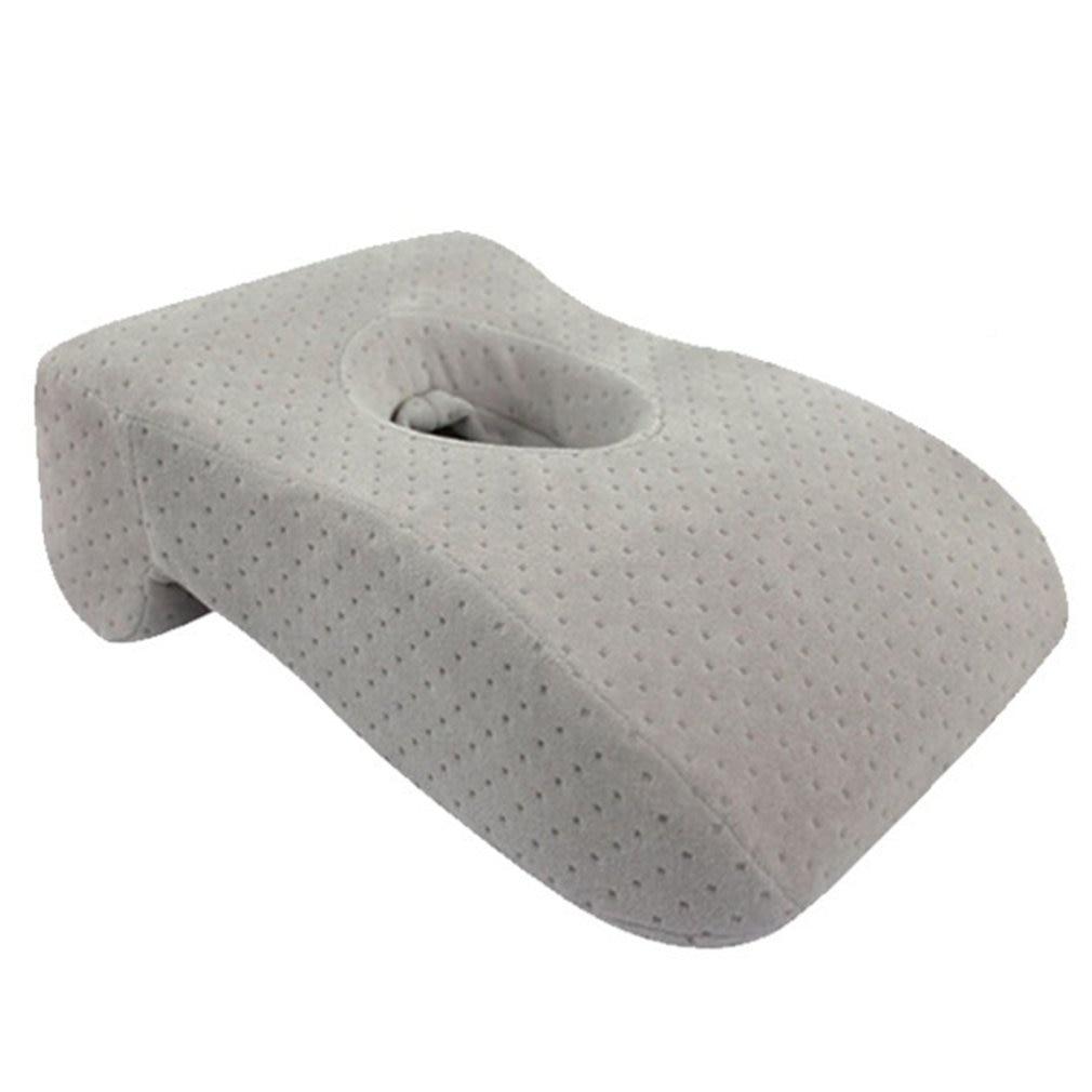 Almohada para dormir de rebote lento memoria de algodón agujero almohada para la Nap Oficina estudiantes lamer almohada de mano
