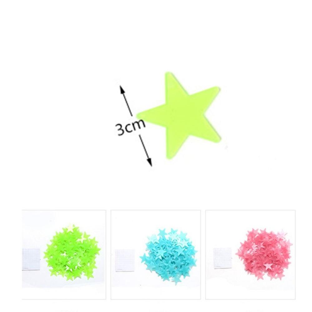 150X100 шт/мешок 3D звезды светящиеся наклейки на стену светящиеся флуоресцентные наклейки на стены для детей Детская комната Спальня Наклейки ... - 6