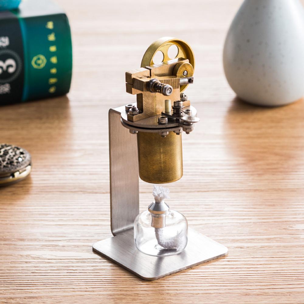 Alle metalen Horizontale Eencilinder DIY Stoommachine Stuurpen Model Set Vroege Building Kits Leren Model Speelgoed Voor Kinderen - 6