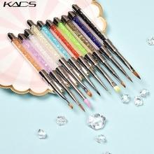 KADS акриловая УФ-Гелевая Кисть-вкладыш, ручка для росписи лаком для ногтей, кисть для рисования ногтей, градиентная кристальная ручка, инструмент для маникюра и дизайна ногтей