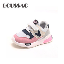 BOUSSAC Sneakers For girls sports shoe Spring autumn fashion soft bottom baby toddler sneakers child kids boys sneaker