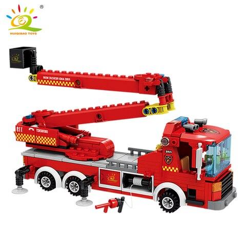 modelo blocos construcao kit bombeiro 2