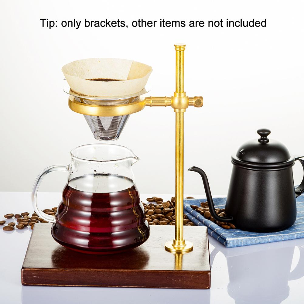 Copper Height Adjustable Coffee Filter Stand Dripper Pot Rack Tea Coffee Cup Holder Stand Coffeeware Kitchen Tools Set
