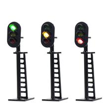 JTD06 5 шт. модель железной дороги 3-светильник 1:150 блок сигналы зеленый/желтый/красный N масштаб дорожный светильник s 5 см 12 В Led