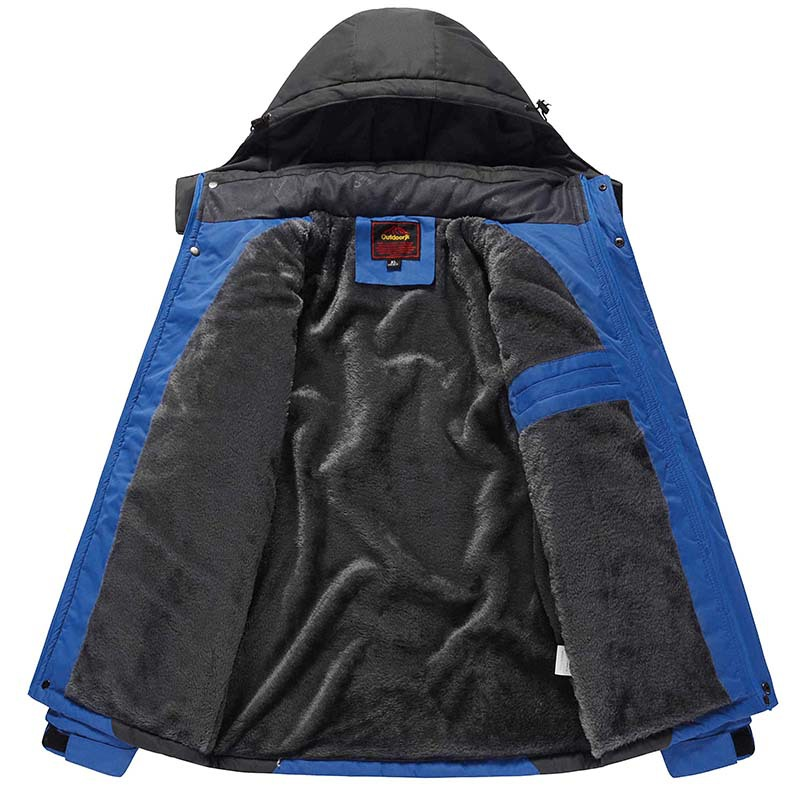Autumn And Winter Thick Plus Velvet Plus Cotton Cold Raincoat Jacket Men And Women Couples Outdoor Work Clothes Customizable Log