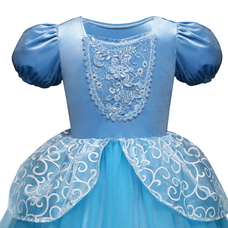 Girls Princess Dress for Kids Cosplay Costume Halloween Party Dresses Role-play Clothes Girls Vestidos Clothing 5