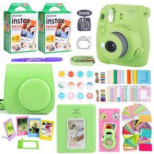 Image 4 - Fujifilm Instax Mini 9 fotocamera per stampa fotografica istantanea con 40 fogli Mini pellicola per fotocamera borsa a tracolla borsa accessori Bundle