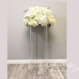 Image 1 - Wholesale Acylic Floor Vase Clear Flower Vase Table Centerpiece Marriage Modern Vintage Floral Stand Columns Wedding Decoration