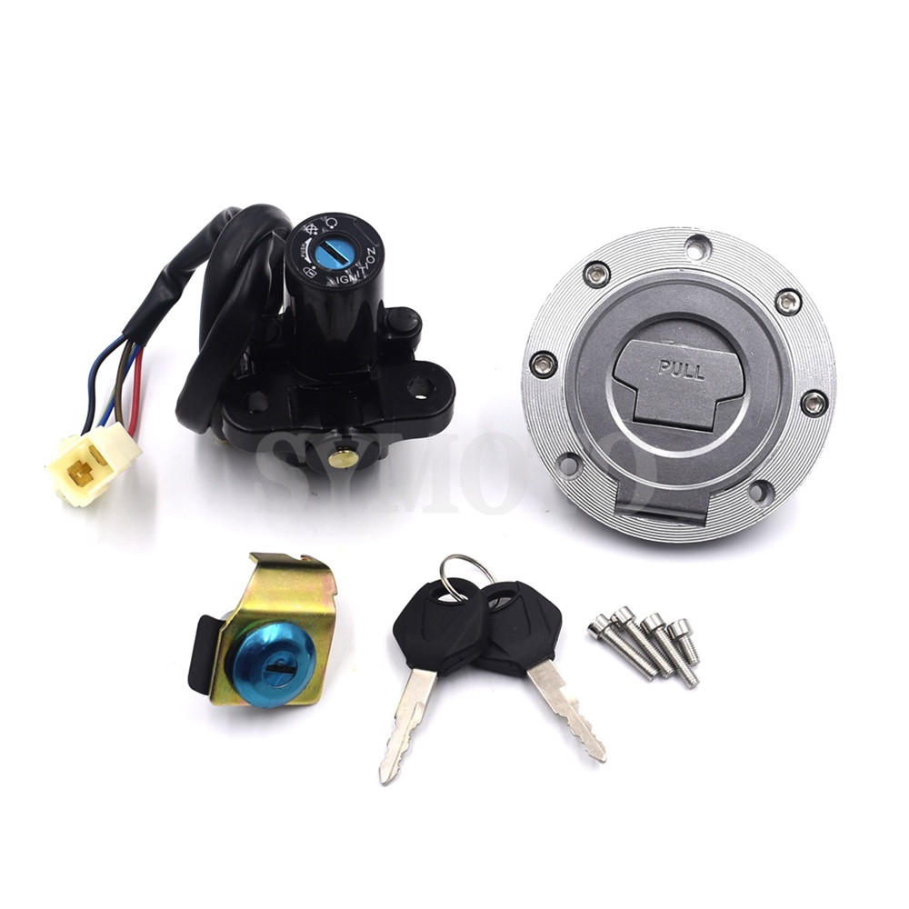 For Yamaha MT-01 2005-2009 YZF R1 2004-2014 YZF R6 2006-2016 Motorcycle Fuel Gas Cap Ignition Switch Seat Lock With Key Kit
