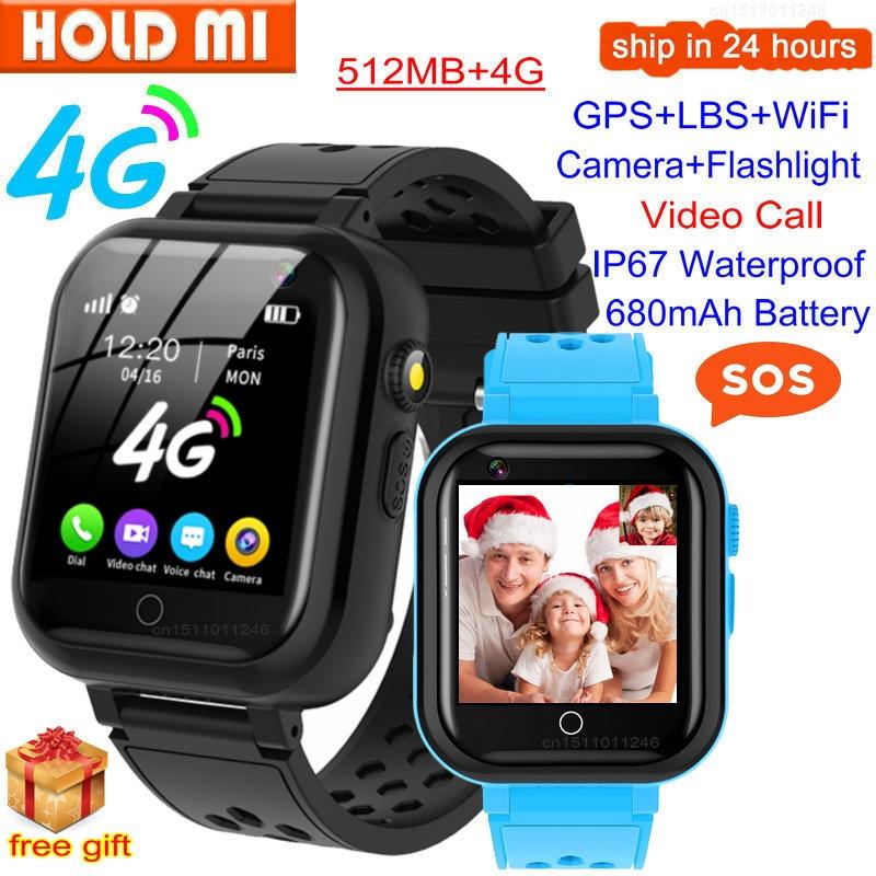T16 4G Детские умные часы Видеозвонок GPS WI-FI положение SOS IP67 Водонепроницаемый голосовой чат Детские умные часы Камера детские часы-телефон