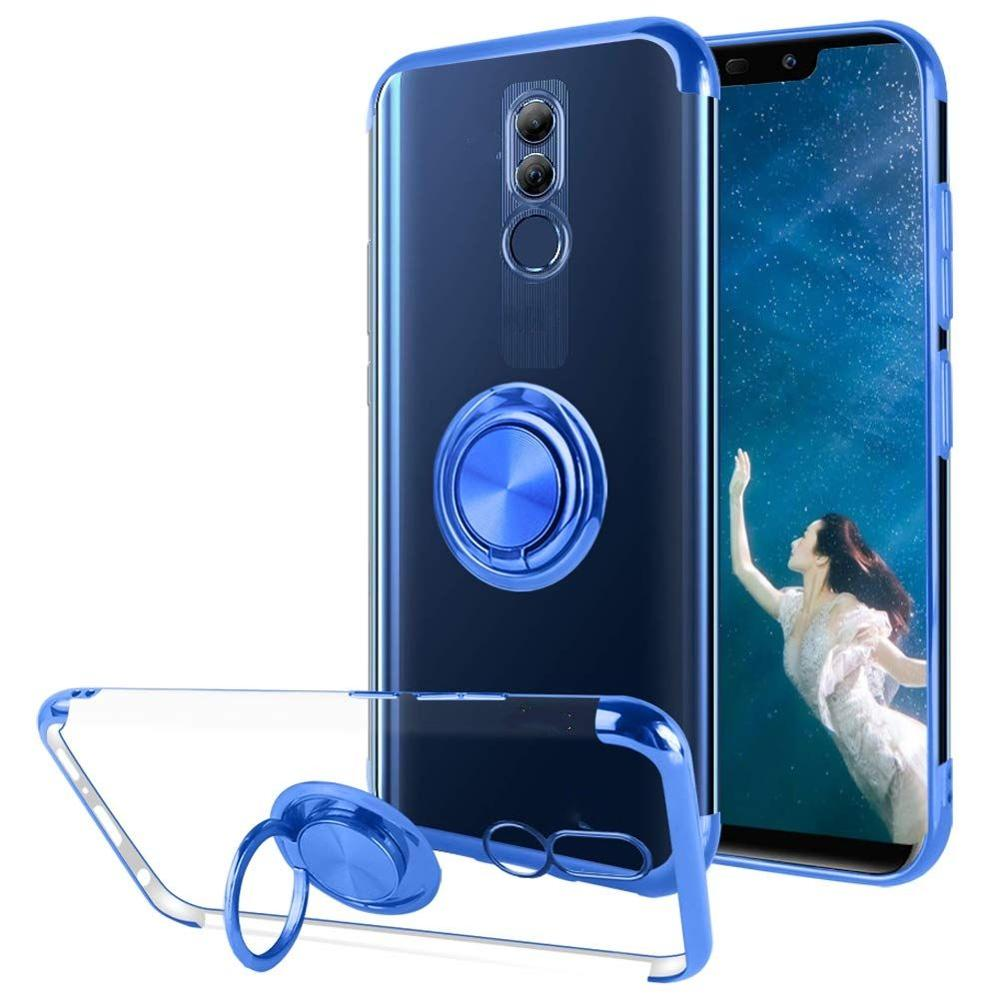 Case For <font><b>OPPO</b></font> A9 A5 2020 F11 Pro <font><b>RENO</b></font> Realme X A7 A3s A5s R17 Cover Ring Kickstand Magnetic Car Mount <font><b>Plating</b></font> <font><b>TPU</b></font> Silicone Case image