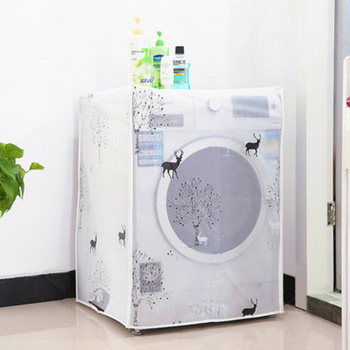 PEVA Sunscreen Dust Proof Cover Washing Machine Cover Waterproof Case Washing Machine Protective Dust Jacket Front Top Open 1PC