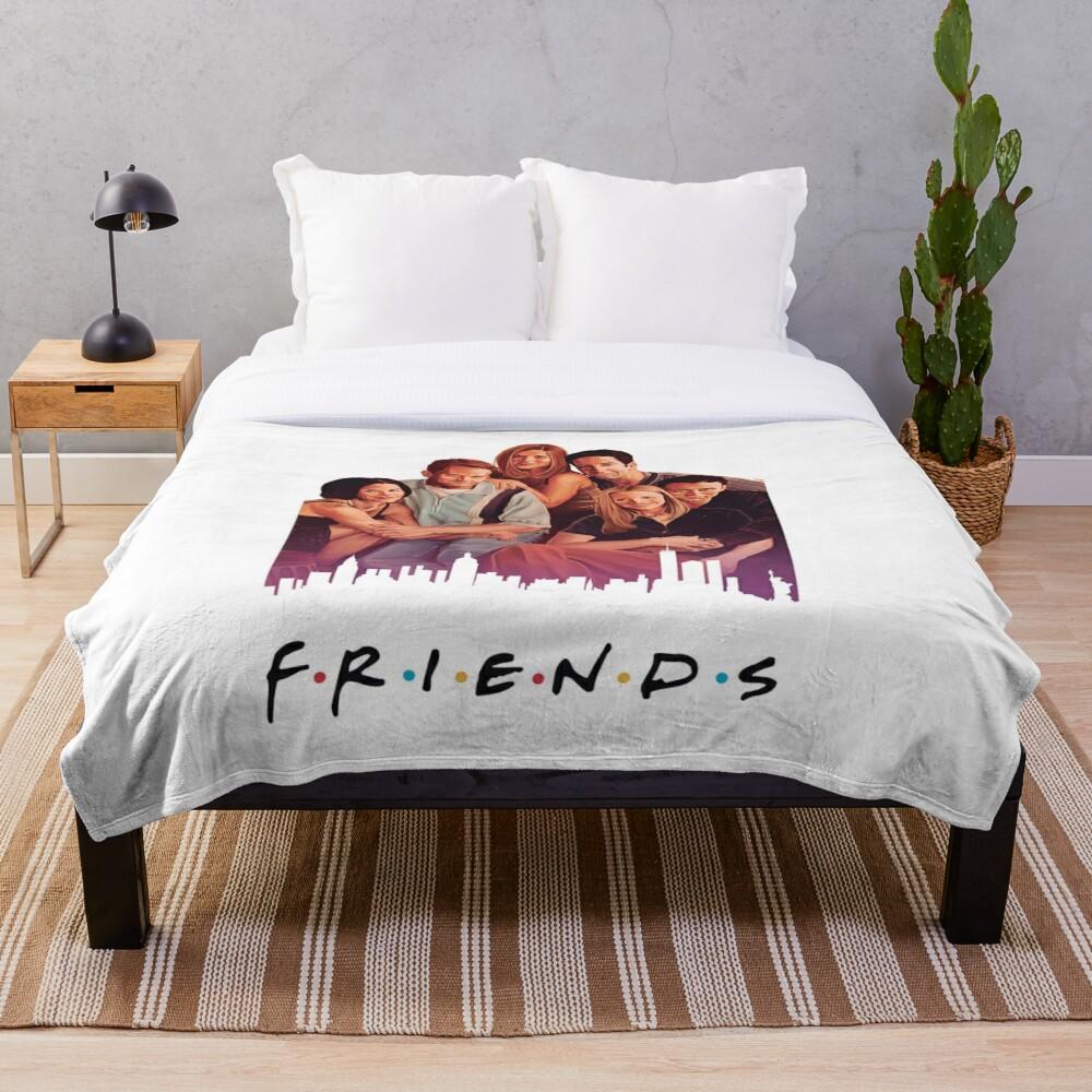 Friends Throw Blanket Soft Sherpa Blanket Bed Sheet Single Knee Blanket Office Nap Blanket
