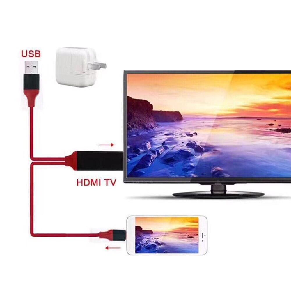 2M OTG données synchronisation connecteur externe pour iPhone XS MAX iPad Pro 8 broches foudre vers HDMI TV projecteur USB caméra adaptateur câble