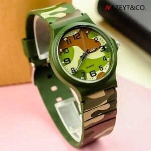 Новинка, спортивные камуфляжные армейские часы для студентов среднего возраста, высококачественные водонепроницаемые силиконовые наручн...