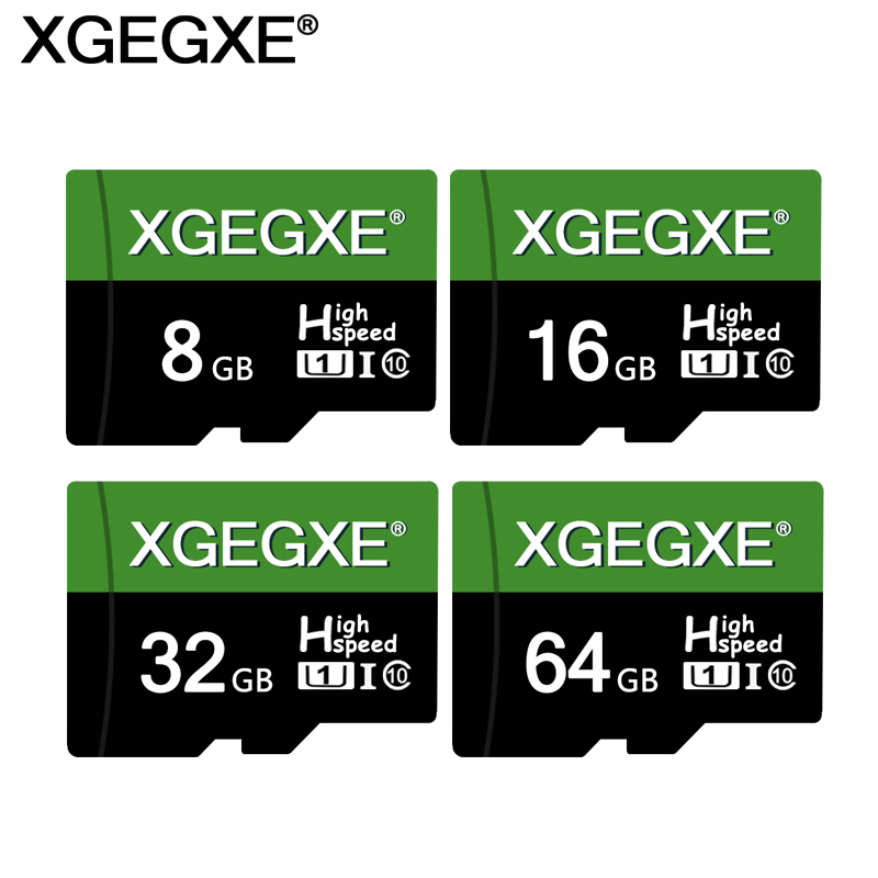 XGEGXE Memory Card 64GB 32GB 16GB High Quality Class 10 UHS-I U1 TF Flash Card 8GB 128MB For Smartphone