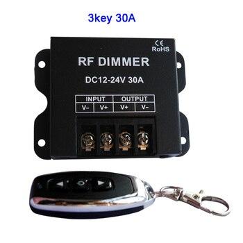 3 klawisze jednokolorowy ściemniacz led Mini 3 klawisze sterownik do 5050 3528 3014 2835 taśmy LED taśma oświetlająca 12V 24V