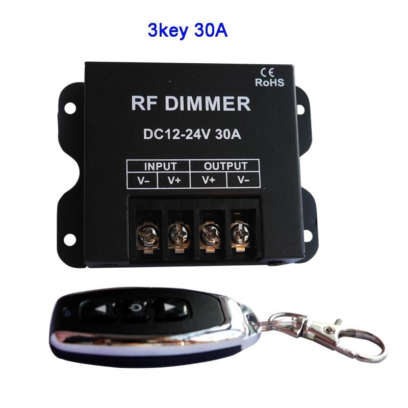 3keys Single Color Led Dimmer Mini 3keys Controller For 5050 3528 3014 2835 LED Strip Light Tape Lamp 12V 24V