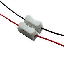 20 adet Splicer fişler/bağlantı fişleri/linker fişler/hızlı bağlantı kablo kelepçesi Terminal bloğu 2 yollu kolay Fit led şerit için