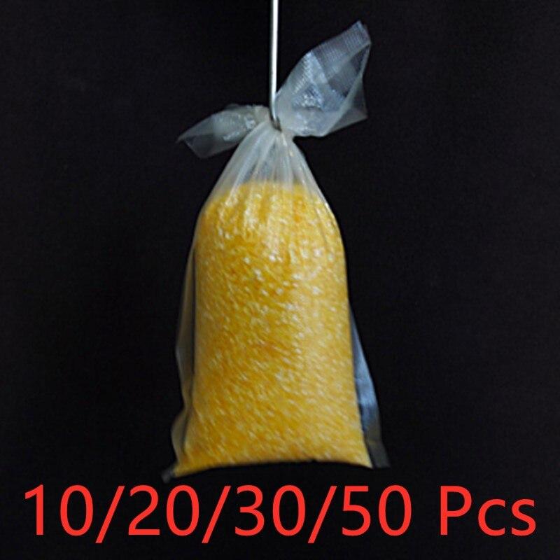 10/20/30/50Pcs  PVA Bags Carp Fishing Tackle Water Dissolving PVA Bags For Carp Coarse Boilie Bait Bag For Bait Throwing
