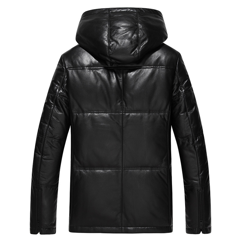 Winter Genuine Leather Coat Men Leather Jacket Men Thick Warm Down Coats Male Real Leather Sheepskin Coat 17163 LWL1077