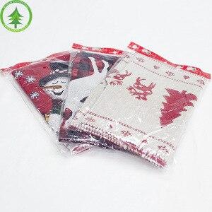 Image 3 - Kerst tafel decoratie elanden sneeuw print tafelkleed cover vlag tafelkleed kerstboom doek thee tafel decoratie