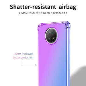 Image 2 - Gradient Case for Xiaomi Redmi Note 9 Pro Max 9S 9T 5G Cases Note9T Cover Women Note9 T Note9S Covers Transparent Luxury Bumper