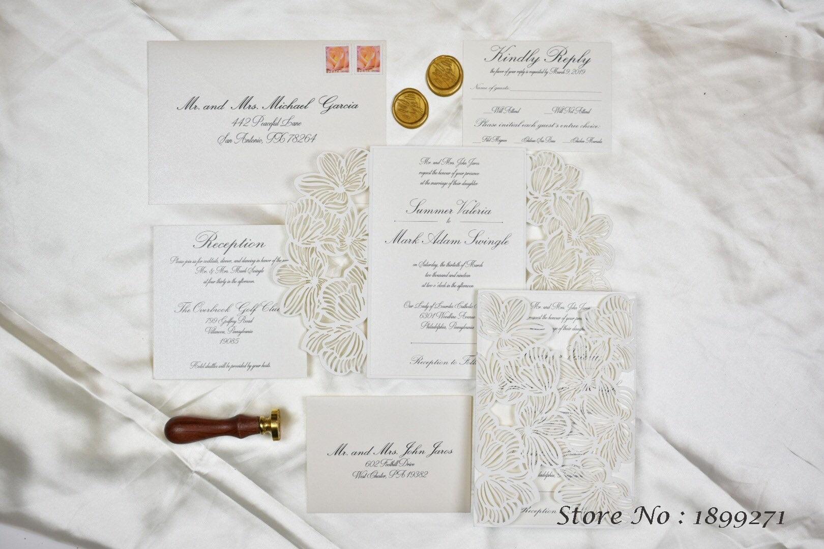 Invitation Card Flowers