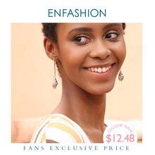 Enfashion בציר טבעי קונכייה עגילי זהב צבע Boho עגילים לנשים תכשיטים Boucle Oreille Femme 2020 EM191011