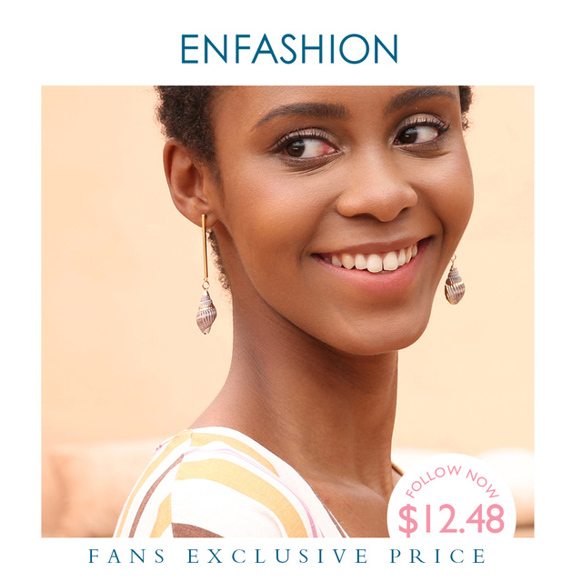 Enfashion 빈티지 자연 조가비 귀걸이 골드 컬러 Boho Earings 여성 패션 쥬얼리 Boucle d oreille Femme 2020 EM191011