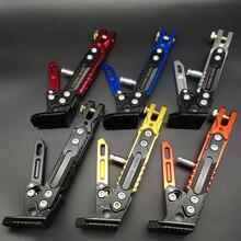 цена на 1PC Motorcycle stamds modified accessories adjustable side brace heightened aluminum alloy side tripod single side brace