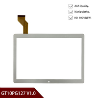 White Original 10.1''inch for GT10PG127 V1.0 tablet pc capacitive touch screen glass digitizer panel Free shipping