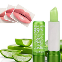 Moisturizing Lipstick Lip-Balm Aloe-Vera Changing Mood Natural Long-Lasting 1PC