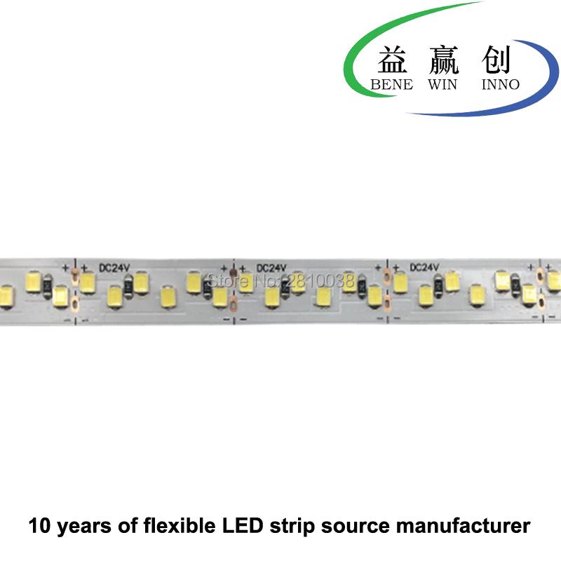 100M/Lot High CRI 90+ 204leds/M led strip 2835 none waterproof DC24V flexible led strips 12mm wide led ribbon 24W/M led tape