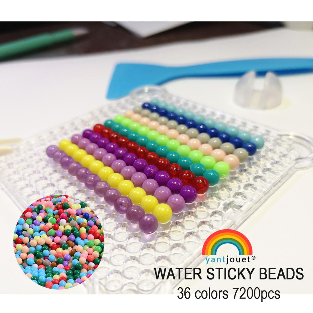Yantjouet Water Sticky Beads Children Beads 7200pcs/set 36 Colors Crystal Color Water Spray Magic Puzzle For Kids Gift Toys