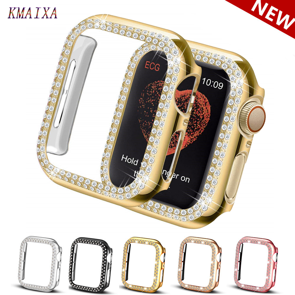 Double Diamond cover For Apple watch Case Apple watch 5 4 44mm 40mm 42mm 38 mm Protector case Bumper iWatch 3 2 1 Accessories 42 image