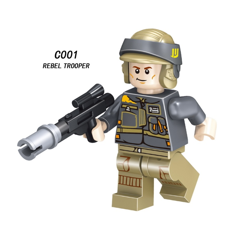 Single Sale Super Heroes Star Wars Rebel Trooper Mini Building Blocks Figure Bricks Toys Kids Gift Compatible Legoed Ninjaed