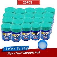 20 unguento branco do bálsamo refrigerando da fricção do vapor dos pces para anti dor de cabeça do mosquito dor de dente