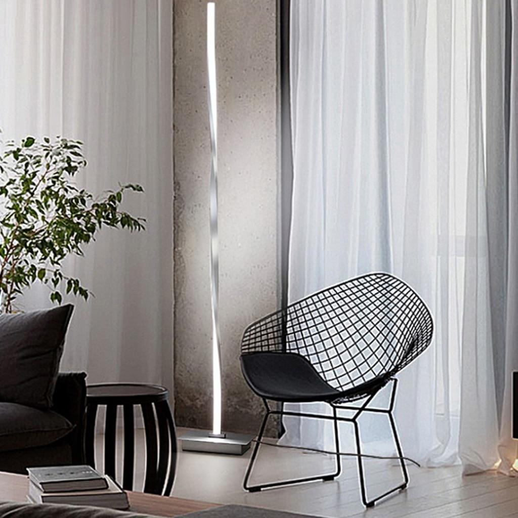Tiwst Curve LED Floor Lamp Bedroom Decoration Light Home Reading Standing Lamp