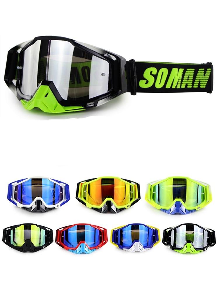 SOMAN Motocross Glasses Goggles Lunette Gafas Dirt-Bike Downhill Mx Windproof for Brillen