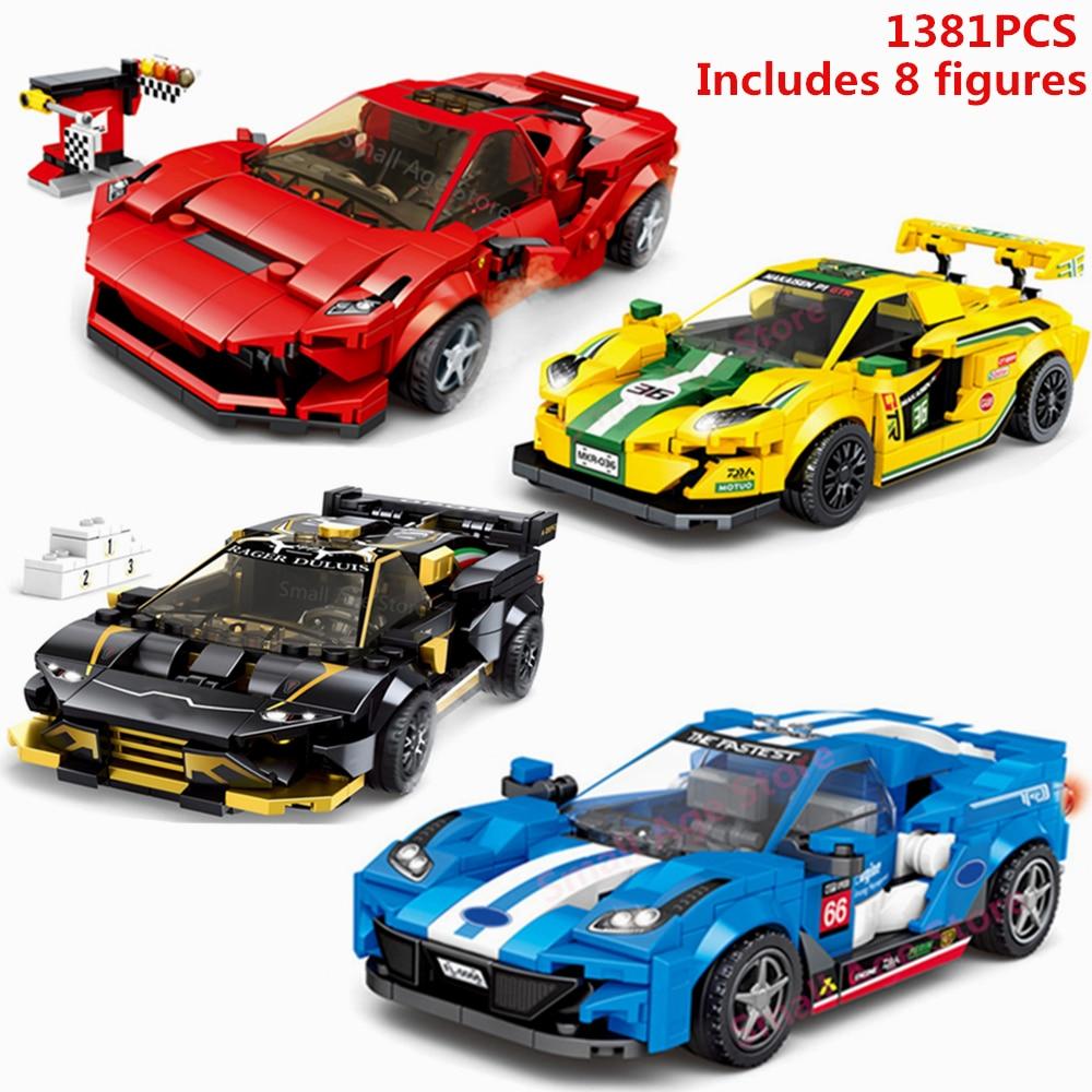 2020 NEW Technic Speed Champion Building Blocks Bricks Race F8 Tributolys Supercar Car Creator Toys Gift Lepinglys 76895