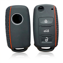 Silicone Car Key Cover Case For VW Golf 4 5 6 7 Bora Jetta POLO MK4 MK6 Bora Passat B5 B6 Superb Tiguan Beetle Key Holder