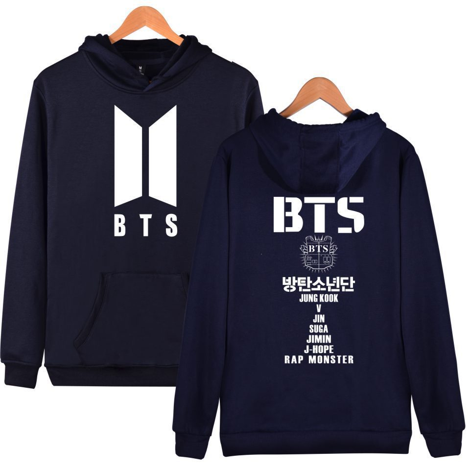 BTS Bulletproof Boys New Series Related Products Celebrity Style Hoodie Loose-Fit Should Aid Hooded Coat Dage Clothes