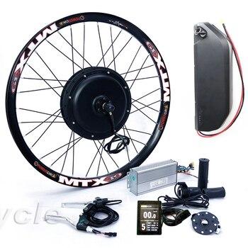 Kit de conversão de bicicleta elétrica de alta potência ebike 52v 2000w com pacote de bateria de lítio 52v 17ah