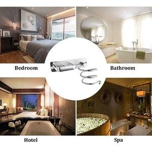Алюминиевая настенная сушилка для волос, органайзер, фен для волос, выпрямитель, держатель для ванной комнаты, полка для туалетных принадле...